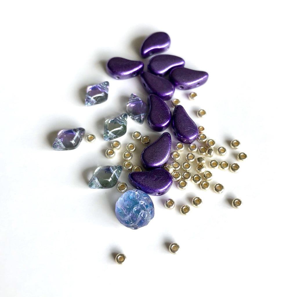Paisley Dot Ring Kit - Metallic Purple