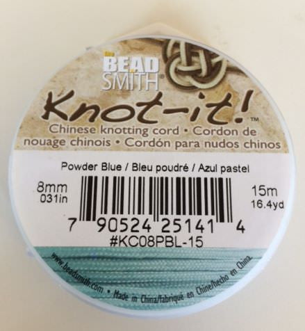 spool of chinese knotting cord powder blue