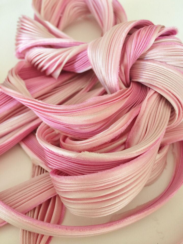 Shibori Silk ribbon – Pretty in Pink