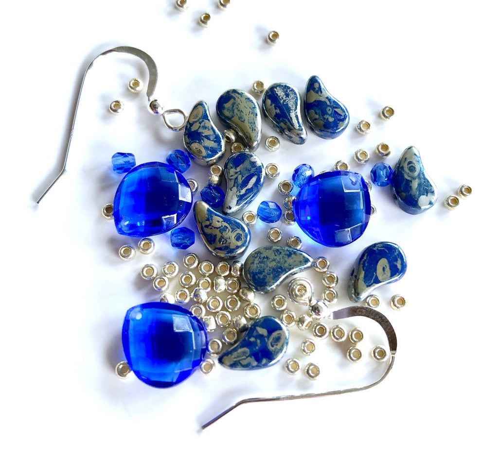 Arabesque Earrings Kit - Sapphire Picasso