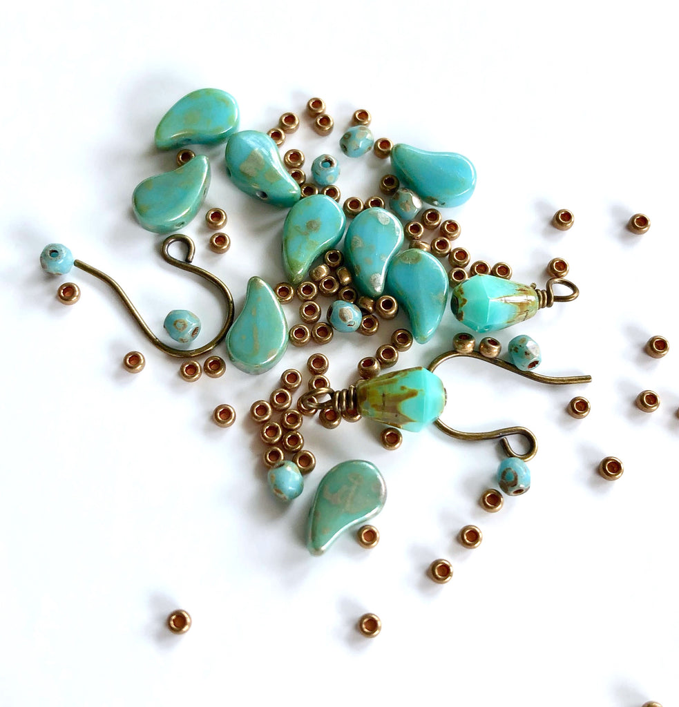Arabesque Earrings Kit - Turquoise Vintage