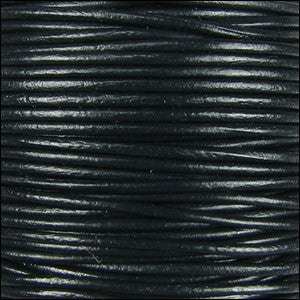 1.5mm leather cord black