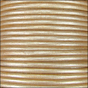 1.5mm leather cord cream metallic