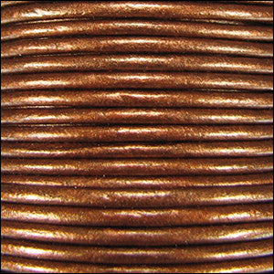 Leather Cord - dark copper metallic