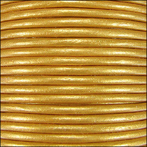leather cord 1.5mm gold metallic