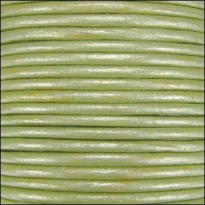 leather cord 1.5mm fern green metallic