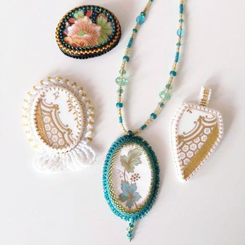 Bead Embroidered Cabochon Class