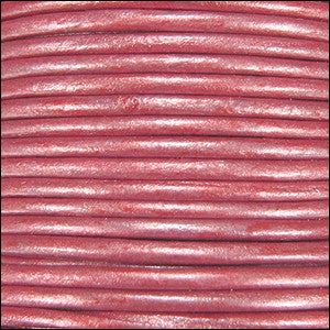 leather cord 1.5mm pink metallic