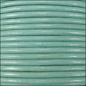 leather cord 1.5mm seafoam green