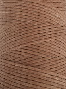 Flat waxed cord - Light Brown