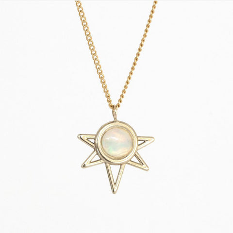 Opal Mini Sun Necklace