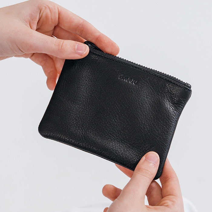 7453f7ba77cb Small Leather Zip Pouch