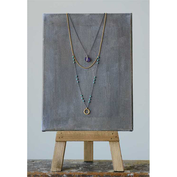 Double Layer Amethyst Necklace