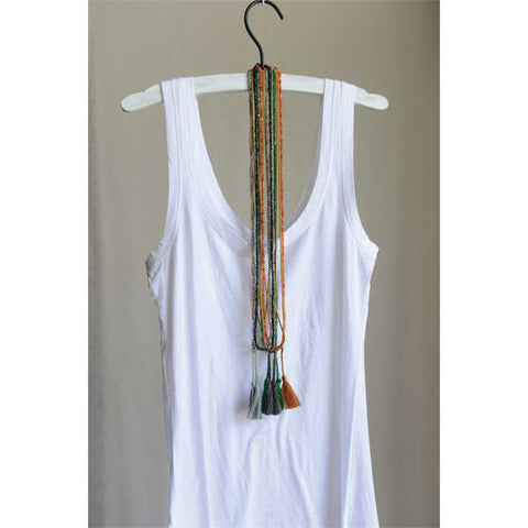 Rambler Tassel & Gemstone Necklace