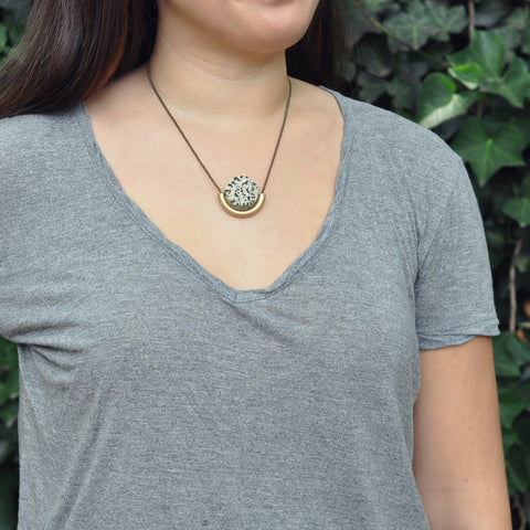 Sun & Moon Stone Necklace