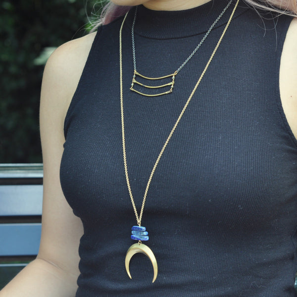 Crescent Reflection Necklace