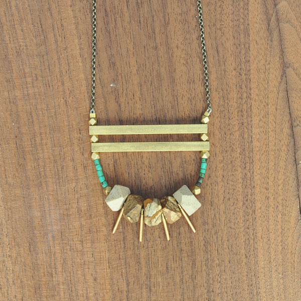 Larissa Loden Adroit Jasper Loop Necklace