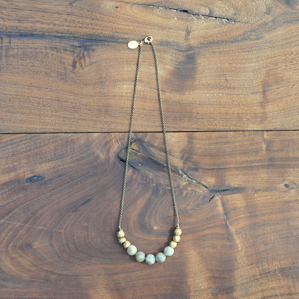 Mint Julep Labradorite Bead Necklace