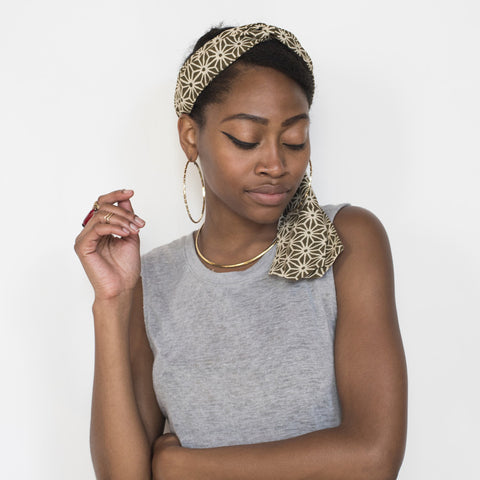 Henna Geometric Headscarf Wrap