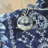 Bardot Dendritic Opal Hand Crocheted Necklace