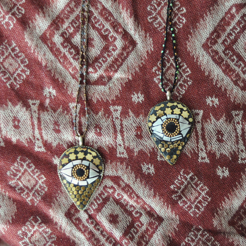 Third Eye Hand Crocheted Necklace