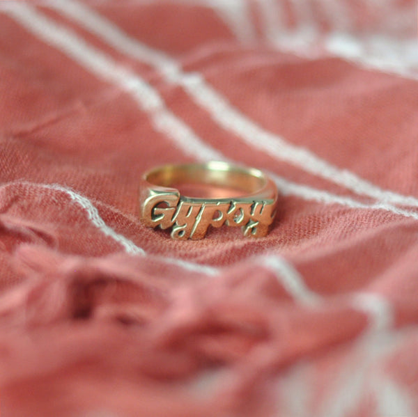 Gypsy Nameplate Ring