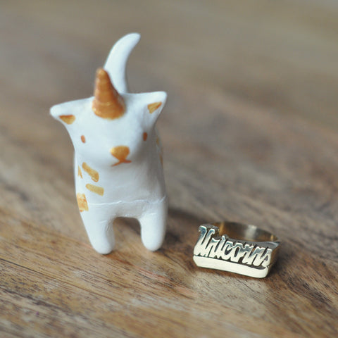 Unicorns Nameplate Ring
