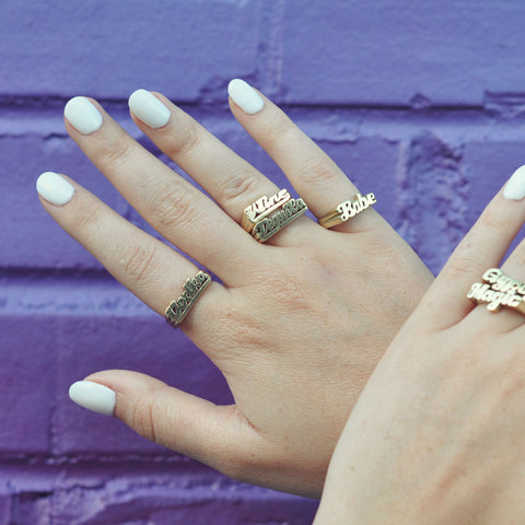 Tequila Nameplate Ring