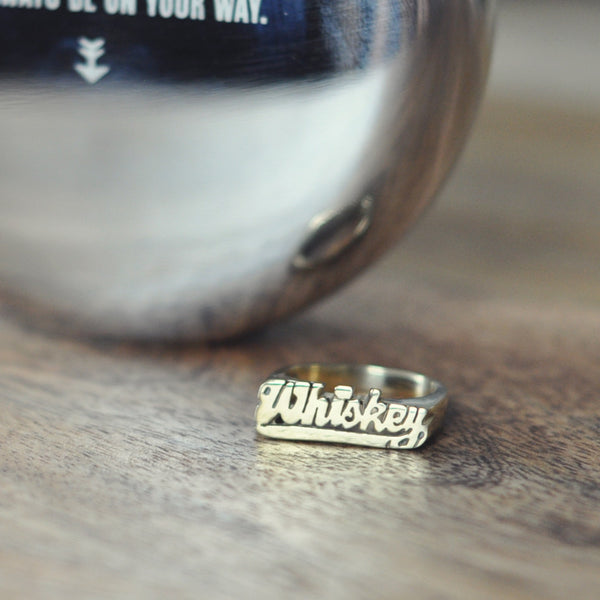 Whiskey Nameplate Ring