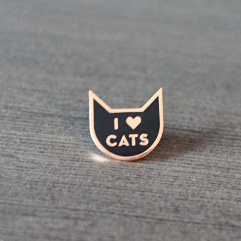 I Heart Cats Pin