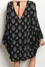 HOCUS POCUS PRINTED DRESS