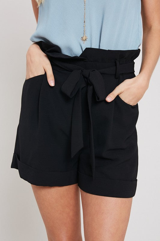 STORY HIGH WAIST TIE SHORTS