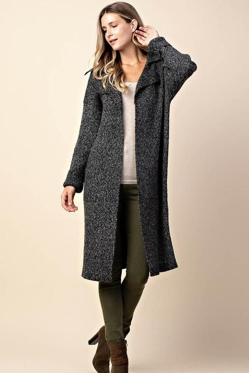 OVERSIZED KNIT CARDI BLACK*