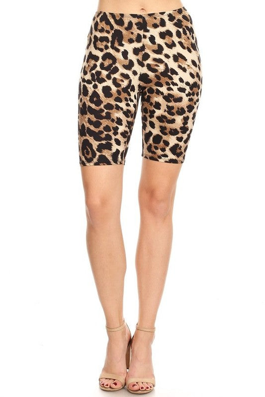 GINGER LEOPARD LEGGING SHORTS