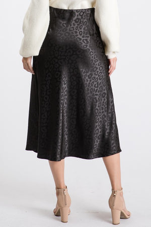 SWEET TALKER LEOPARD SKIRT BLACK