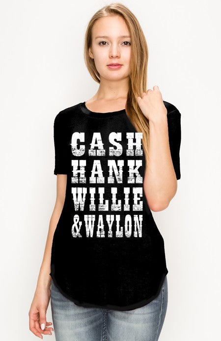 CASH GRAPHIC TEE BLK