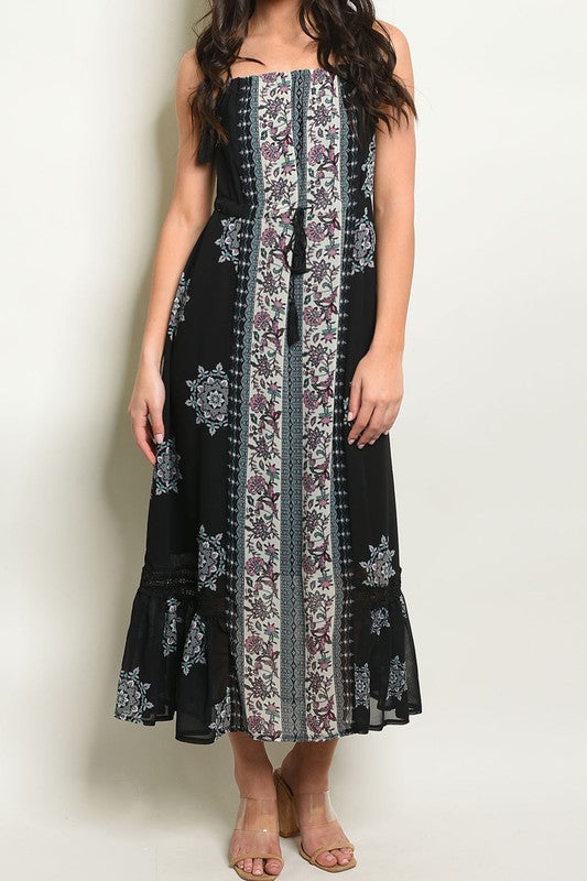 ALL MY LOVE PRINTED MAXI DRESS