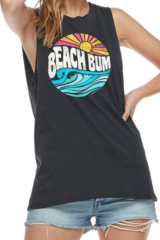 BEACH BUM GRAPHIC TANK