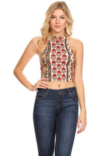 PRINTED CROP TOP-