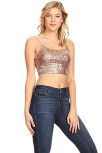 FARRAH SEQUIN TOP BRALETTE