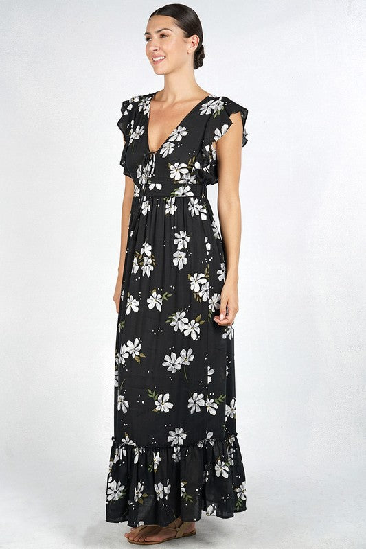 FEELINGS FLORAL MAXI DRESS