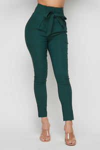RONNIE TIE FRONT PANTS GREEN
