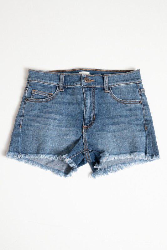 MARTINA CUT OFF DENIM SHORTS