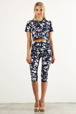 ROYAL GARDEN FLORAL CROP TOP