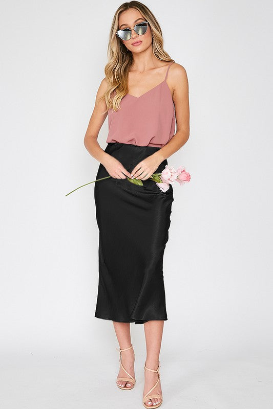 ZEPPLIN SATIN SKIRT