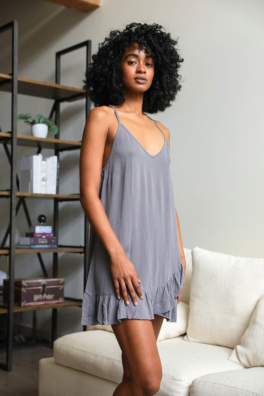 TATTOO MESH SLIP DRESS