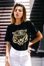GOLD FOIL TIGER GRAPHIC TEE