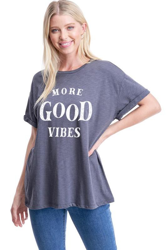 MORE GOOD VIBES GRAPHIC TEE
