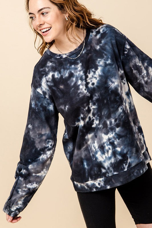 TUSCAN TIE DYE PULLOVER