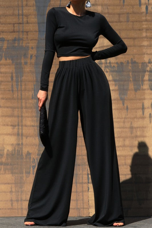 ALIA WIDE LEG PANT SET